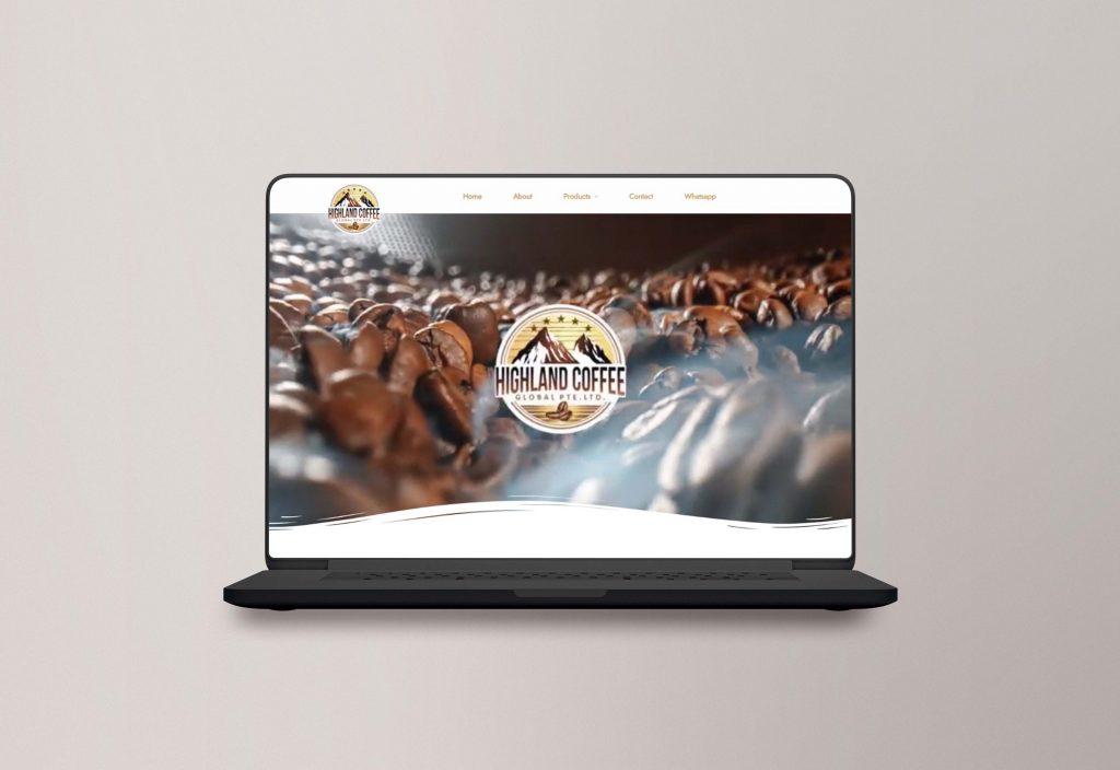 Coffee website design mockup