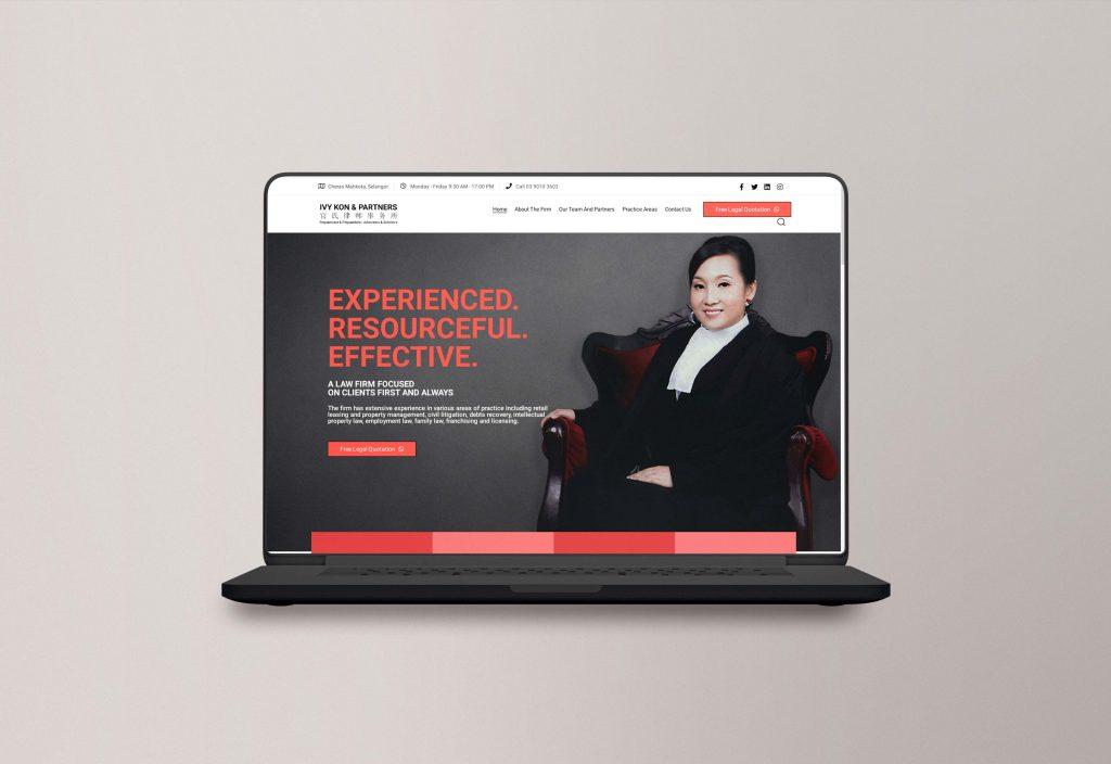 law firm website design mock up