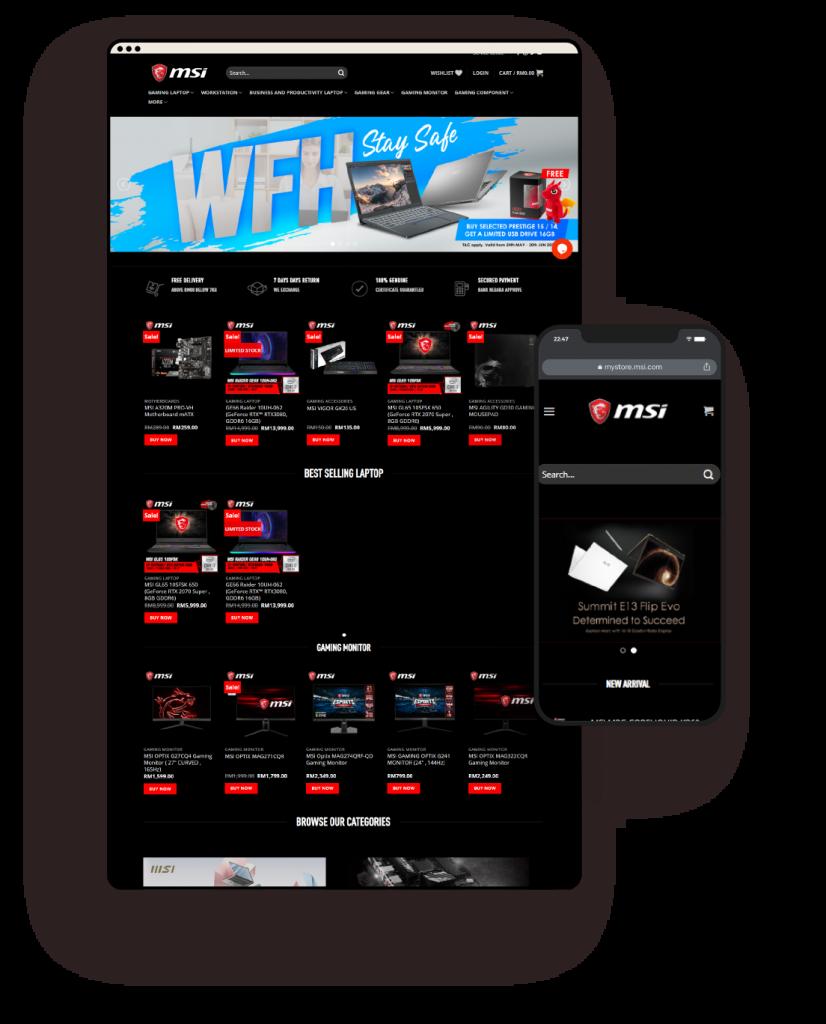 Woocommerce Built MSI website