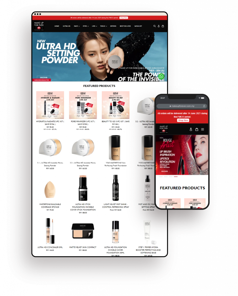 Make up for ever built by EasyStore